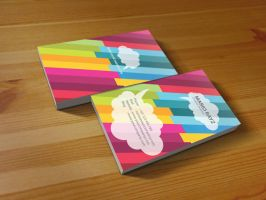 Fancy rainbow business card 2 by Lemongraphic