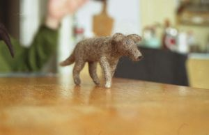 dog, needle-felted by vriad-lee