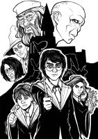 Harry Potter Lineart by theharmine