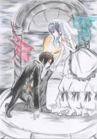 sebastian x ciel lady mode by kuro-alichino