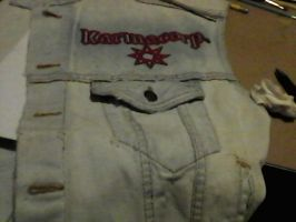 WIP- Battle Vest - Local Metal Bands 17 by Gothicdarkness