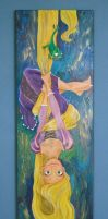 Rapunzel Upside Down by MarjoleinART