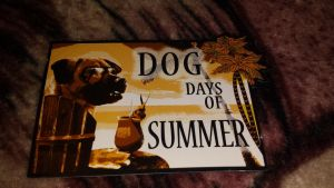 Dog days of summer magnet by Akitas237collections