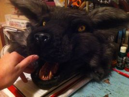 Werewolf mask - by wolf-child1995