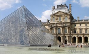 Louvre Pyramid and facade by EUtouring