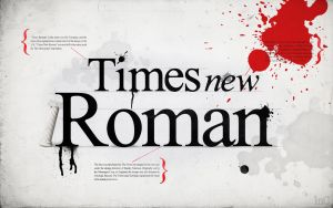 Times New Roman. by mindCollision