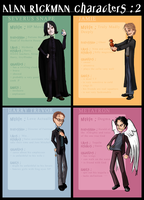 Alan Rickman Characters : 2 by ArcanePrayer