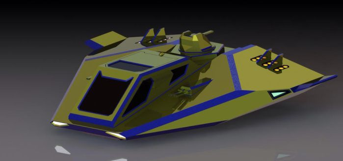 X-27 Falcon (early concept model, front) by Viktor-Grizz-Gavorn