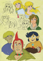 Je, some LoZ sketches by ChankaMuffin