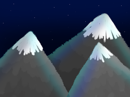 Mountain Night Fall by Snowstorm102