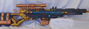 Steampunk Sniper Rifle - backside by vanbangerburger