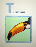 T is for Toucan by JessicaEdwards