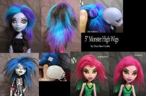 Monster High Wigs by bluepaws21