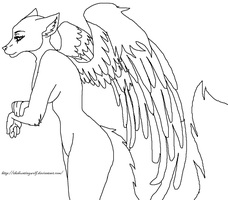 Angel Furry Base MS Paint by foxlover2222