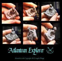 Atlantian Explorer finished sculpt 6 views by Meadowknight
