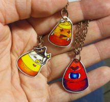 Halloween Candy Corn Charms by ChristyMoss