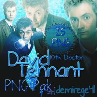 David Tennant(10thDoctor) PNG PACK#1 25PNG by demirege41