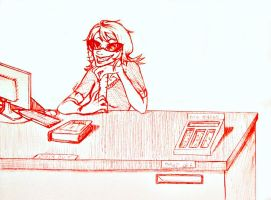Terezi: School Librarian by squirrely-chan