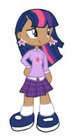 MLP FIM Human Twilight Sparkle by kaoshoneybun