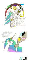 Celestia VS Discord by Mickeymonster