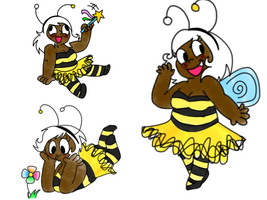 Bee girl by LowlyWorm