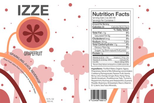 New IZZE Label by Vellosia