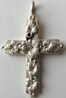Vintage Sterling Silver Trailing Ivy Cross Pendant by sevvysgirl