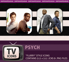 Psych Flurry TV Icon Set by shipshapesarah