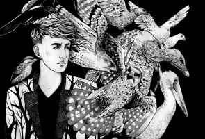 Patrick Wolf and the birds by Hija--Turner