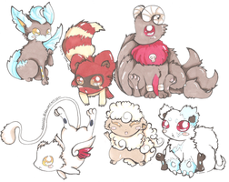 Pokemon Hybrids Adopts CLOSED by PinkMelodii