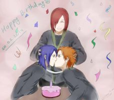 Happy Birthday Yahiko and Konan by WillowTear