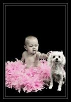 Baby and Dog by AgresticLamia