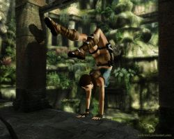 Lara Croft - Climb by Halli-well