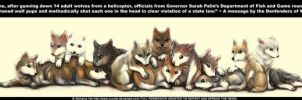 14 Wolf Pups by LothaBarra