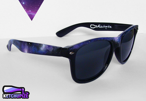 Galaxy painted Wayfarer style sunglasses by Ketchupize