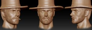 Clint Eastwood Zbrush 2 by FoxHound1984