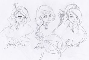 Adult Concept - Alice.Alicia and Racheal by Charming-Manatee