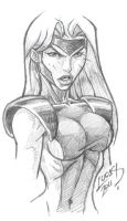 Jean Grey SKETCH 2011 by LucasAckerman