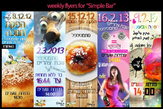 5 Weekly flyers for Simple Bar by Natinhoo7