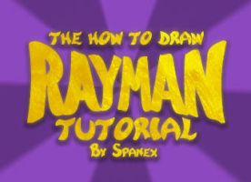 How to Draw Rayman Tutorial by Spanex