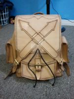 Custom Leather Rucksack by IronwoodLeatherworks