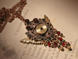 Tempus IV - Steampunk pendant by Bodza