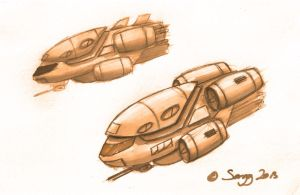 Scarab Support Class Aerial Vehicle Concept by SARGY001