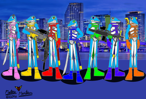 Ops Wave Dolphins by DragonSnake9989