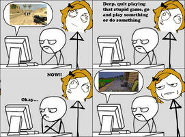 Do Something Else -Rage Comic- by Albowtross91