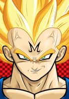 Vegeta Super Saiyan by Thuddleston