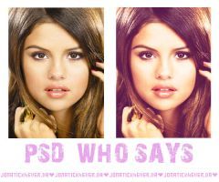 PSD Who Says by jonatick4ever