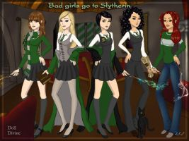 Bad girls go to Slytherin by Like-a-Mask