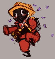 TF2: Tiny Dancing Pyro by ph00