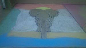 Chalk Elephant by swagger23